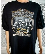 Vintage 2007 Harley Davidson Laconia Weirs Beach NH Bike Week Tshirt 84 ... - $14.80
