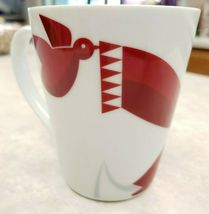 Starbucks Mug  2012 Red Fox Scarf Dove Coffee Tea Mug image 3