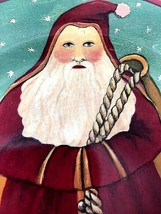 """Block 1995 Father Christmas Santa Claus by Gear 3 Cookie Plates 8 1/4"""" - $15.93"""