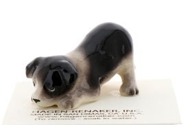 Hagen-Renaker Miniature Ceramic Dog Figurine Border Collie Pup