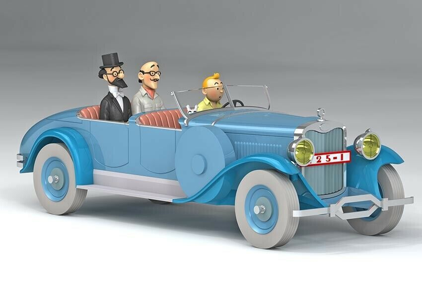 Lincoln torpedo 1/24 model car Voiture Tintin  Les Cigares du Pharaon 2019