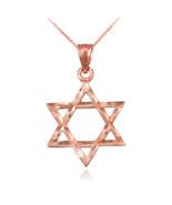 10K Rose Gold Jewish Star of David DC Charm Necklace - $59.99+