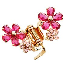 Sweet Flower Hair Claw Fashion Hair Clip Small Size Claw/Hairpin image 2