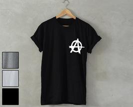 Anarchy t-shirt Anarchy shirt unisex wasted tee rebel shirt anti tee log... - $14.99