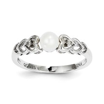 925 Silver Diamond & Oval FW Cultured Pearl June Stone Heart Ring Size 5... - $40.09+