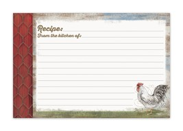 Barnyard Rooster Recipe Card - $5.99