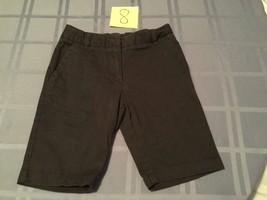 Girls-Size 8 - Izod shorts-dark blue-flat front-long shorts uniform/school - $10.15
