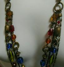 Lia Sophia 4 Strand Multi-color Bead Chain Necklace - $35.00