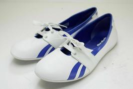 Reebok Size 10 White Blue Flats Sneakers Women's Shoes - $32.00