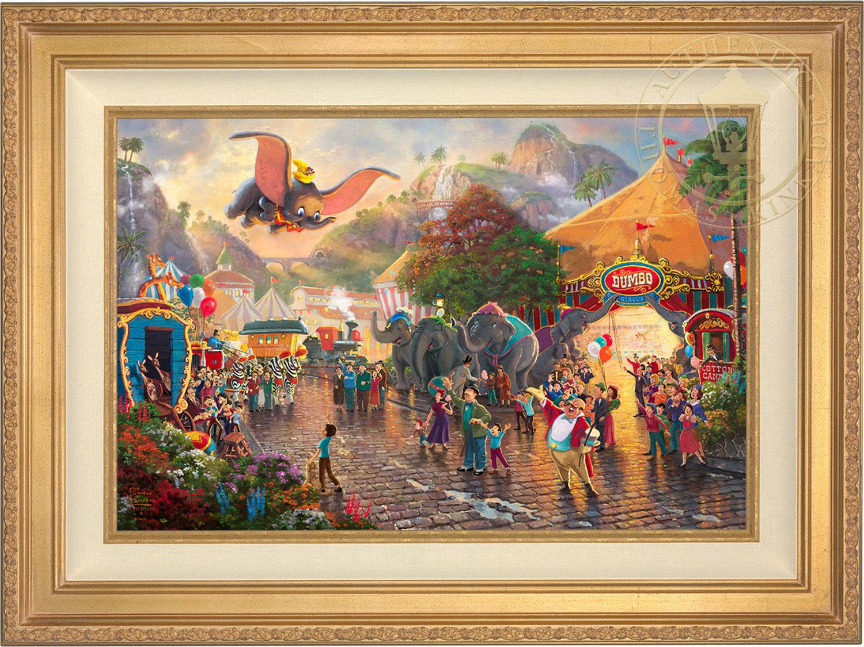 Thomas Kinkade Disney Dumbo 18 x 27 LE E/E Canvas Framed