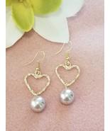Lavender Pearl Heart earrings - $22.00