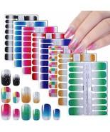 Nail Wraps Stickers For Women Glitter Nail Polish Strips 8 Shees Full Na... - $17.81