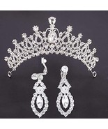 Aetorgc Earring and Tiaras and Crowns Queen Bridal Headbands Pageant Wed... - $19.62