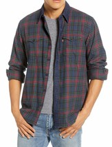 Levi's Men's Classic Barstow Western Slim Fit Plaid Button-Up Casual Dress Shirt image 1