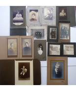 Old Antique Vintage Black And White Photos 14 Portraits 2 Houses Great S... - $7.99