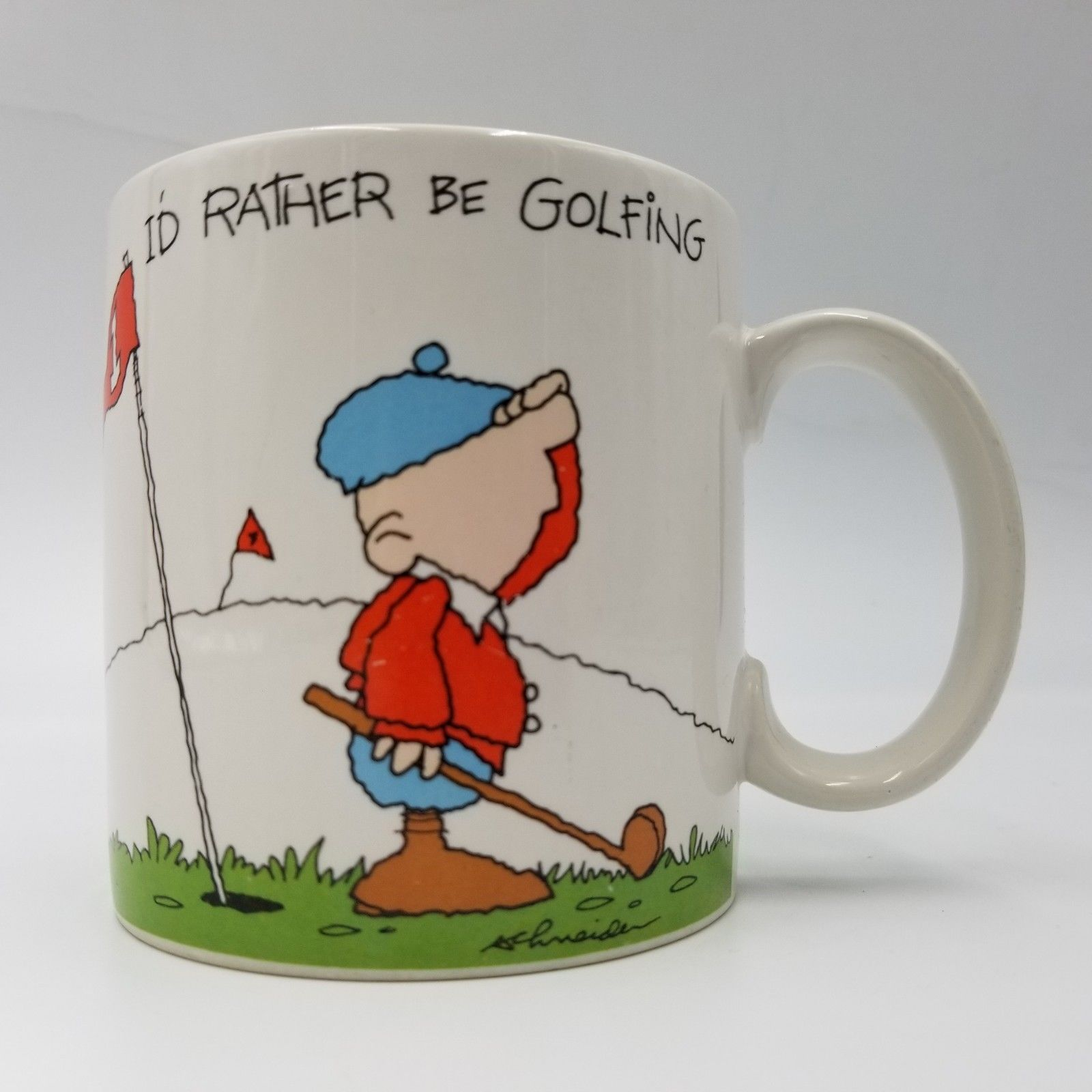 Primary image for I'd Rather Be Golfing by Schneider Ceramic Coffee Tea Mug Cocoa Cup Russ Berrie