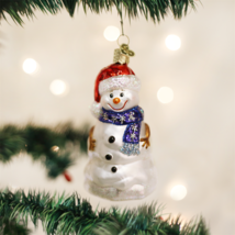 OLD WORLD CHRISTMAS HAPPY SNOWMAN GLASS CHRISTMAS ORNAMENT 24053 - $10.88