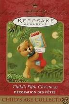 2001 Childs's Fifth Christmas Keepsake Ornament - $19.99