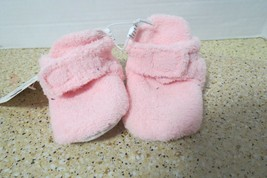Swiggles Pink Cozy Baby Booties With Grippers Size 0-6 Months New W/Tag - $5.50
