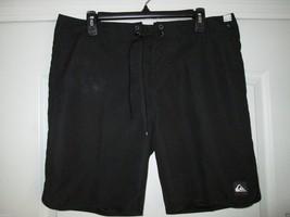 """Quiksilver Solid Board Shorts Men' Swimwear Black 34 (35"""" W measured) UPC22 - $27.38"""