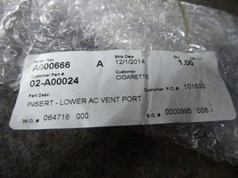 Insert-Lower AC Vent Port A000666, 02-A00024 image 2
