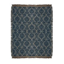 """CC Home Furnishings Blue Victorian Floral Tapestry Throw Blanket 50"""" x 60"""" - $984,32 MXN"""