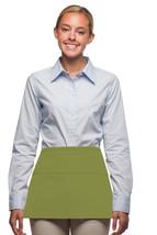 3 Pocket Waist Apron Sage Green Waiter Waitress Bar Staff Craft USA Made... - $11.61