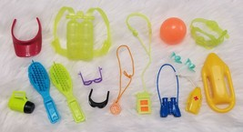 Vintage 1990's Barbie Ocean Diving, Hair and Sports Accessories LOT - $12.49