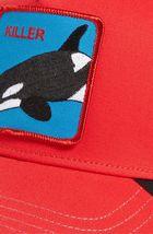 Goorin Bros Snapback Mesh Cap Animal Farm Trucker Hat (Red - Killer Whale) image 3