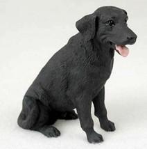 LABRADOR (BLACK) LAB DOG Figurine Statue Hand Painted Resin Gift Pet Lov... - $17.25