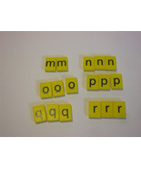 17 Yellow Plastic Letters French Spellmaster Pieces For Crafts - $4.95