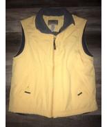 L. L. BEAN ~ Men's Yellow Fleece Lined Vest Jacket Outdoors Hiking Nylon... - $25.23