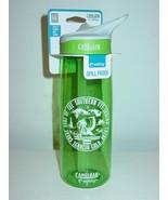 Camelbak Eddy Water Bottle Green Logoed Bite Valve Spill proof BPA Free ... - $11.79