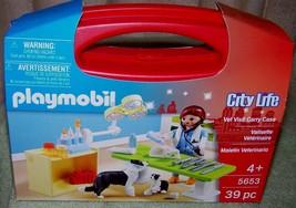 Playmobil VET VISIT Mini Carry Case #5653 39pc New - $9.50