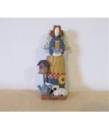 Ceramic Angel, Joy Angel Ceramic, Christmas Angel, garden angel, whimsic... - $17.50