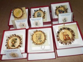 Lot of 6 Hummel Gold Christmas Ornaments in Original Boxes ~ - $23.36