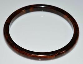 VTG Brown Orange Yellow Marbled End of Days BAKELITE Bangle Bracelet - $123.75
