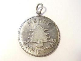 Vintage sterling silver 925 Merry Christmas pendant - $15.00