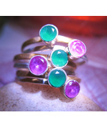 Haunted RING 3x BEAUTY SUCCESS WELLS MAGICK STERLING ZOISITE WITCH CASSIA4 - $58.77