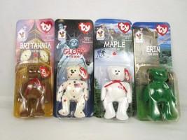 Errors McDonalds Ty Beanie Babies Int'l Bears Maple Glory, Erin, Britann... - $213.75