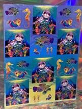 SALE⚡️S278  Lisa Frank Skeeter The Seal Rainbow Reef Sticker Sheet Full image 2