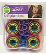 Conair Voluminous Curls Self Grip Rollers 31 Pc Smooth Hair w/ Curl & Li... - $10.34
