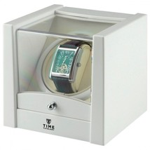 Time Tutelary High Quality Single Watch Winder No 079 White Gloss UK Seller - $66.30