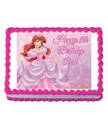 Little Mermaid Princess Ariel Edible Cake Image Cake Topper - $8.98+