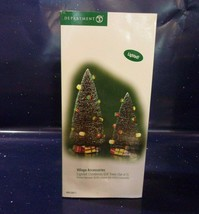 Dept 56 Village Accessories Lighted Christmas Gift Trees (Set Of 2) #56.... - $18.70