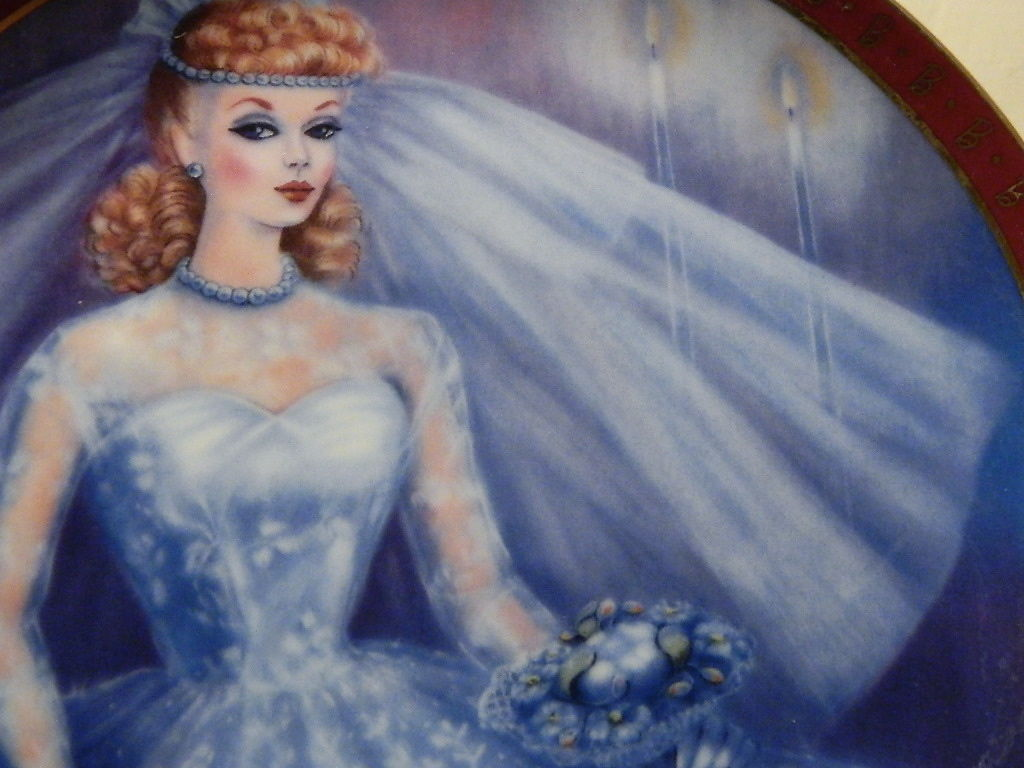 1959-High Fashion-Barbie Bride To Be-Danbury Mint Collectors Plate Susie Morton  image 5