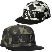 Hugo Boss Army Camouflage Adjustable Sport Baseball Flatbrim Snapback Hat Cap