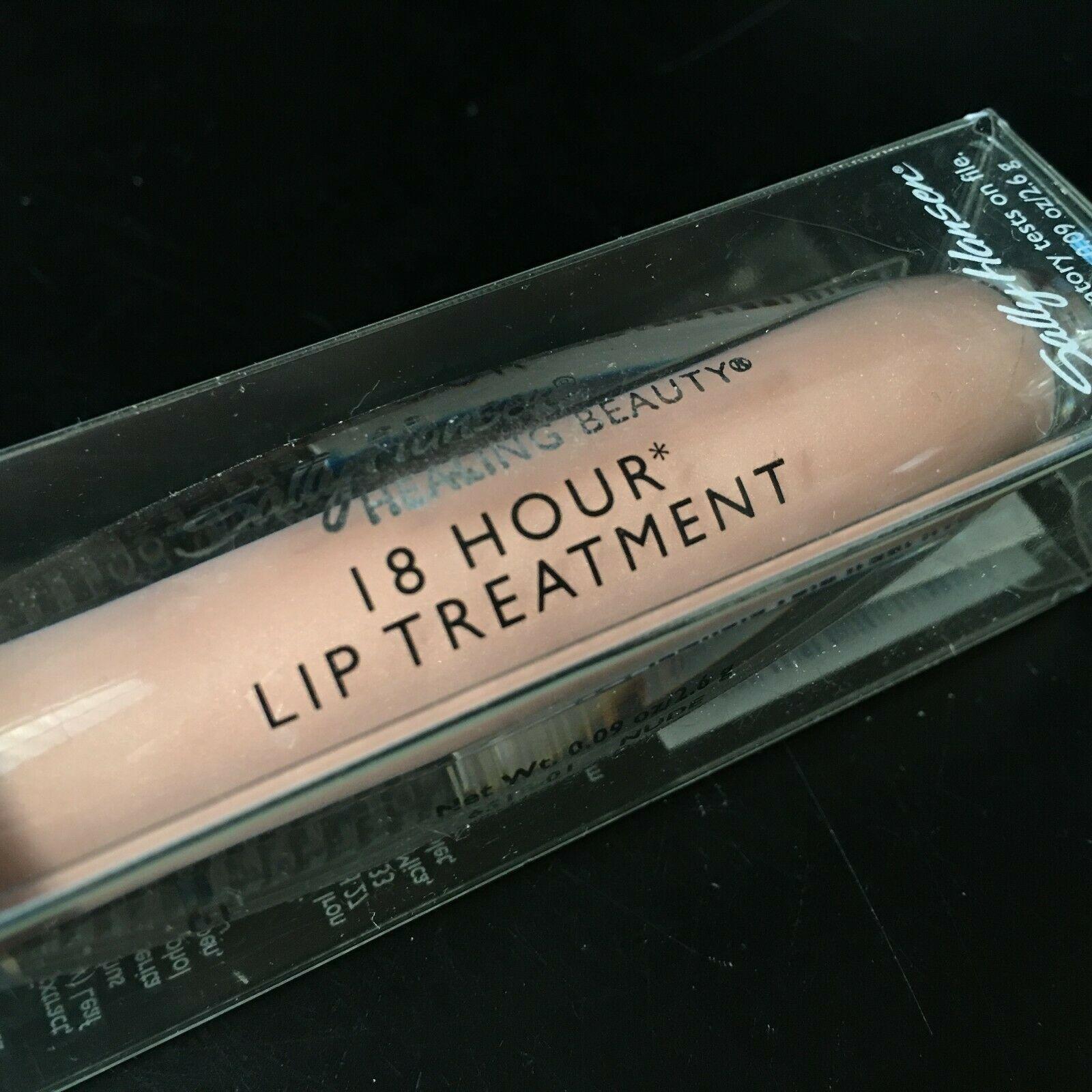 SALLY HANSEN* Tube 18 HOUR LIP TREATMENT Gloss CLEAR NUDE Color #6518-01 Boxed