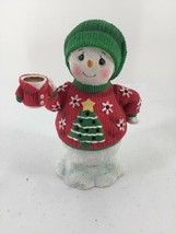 Precious Moments Snowman In Ugly Sweater LED Musical Jingle Bells Hand P... - $14.01