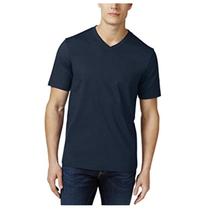 Club Room Mens V-Neck Cotton T-Shirt, Navy Blue, Size 2XL - $9.89